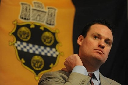 ravenstahal presser shield Mayor Luke Ravenstahl