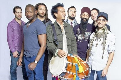 Red Baraat Red Baraat, which will perform Friday night, is led by Sunny Jain, center.