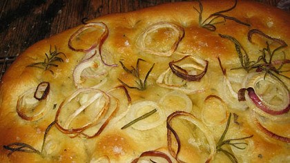 Red Onion and Rosemary Focaccia Red Onion and Rosemary Focaccia.