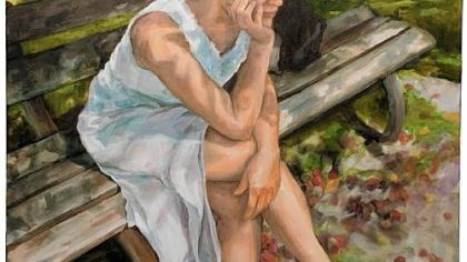 "Remembering Stacy Gross ""The White Dress"" is one of Stacy Rae Gross' paintings."
