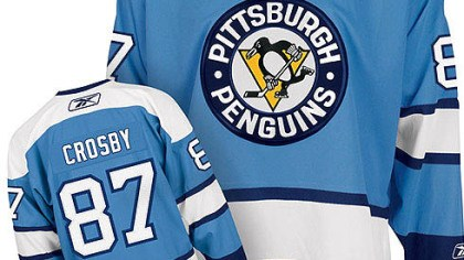 Retro-style Penguins The Penguins retro-style jersey for the Winter Classic to be played New Year's Day.