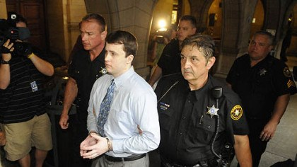 Richard Poplawski Richard Poplawski is led through the hall of the Allegheny County Courthouse for the start of his trial.
