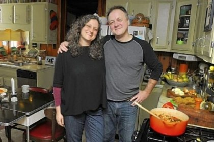 Rick Schweikert and his wife Sherrie Flick Rick Schweikert and his wife Sherrie Flick share prep and cooking in their South Side Slopes home