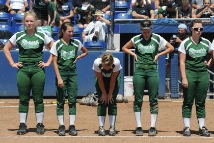 riverside Riverside players react Friday after losing to Brandywine Heights, 1-0, in the PIAA Class AA softball championship at University Park, Pa.