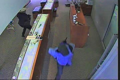 Robbery 2 Image from the Seven Fields jewelry store robbery.