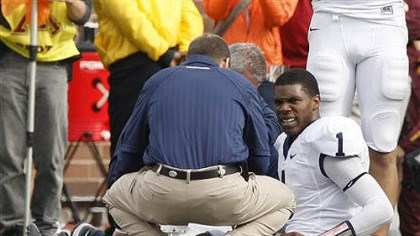 Robert Bolden Penn State' quarterback Rob Bolden was scheduled to undergo a series of medical tests Sunday after he was injured in the first half against Minnesota Saturday.