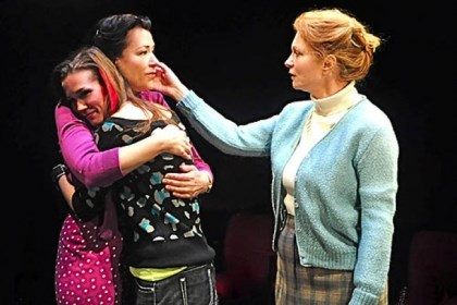 "Robin Walsh, Hayley Nielsen, Cary Anne Spear Embracing three generations of struggle and growth in City Theatre's ""Gem"" are, from left, Robin Walsh, Hayley Nielsen and Cary Anne Spear."