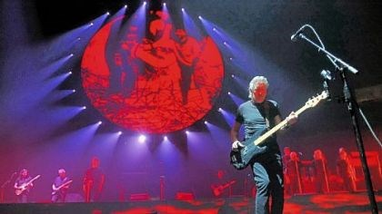 "Roger Waters Roger Waters performs ""The Wall"" at Consol Energy Center in September 2010."