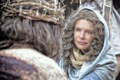 "Roma Downey portrays Mary Roma Downey portrays Mary, mother of Jesus, in ""The Bible"" on the History cable network."