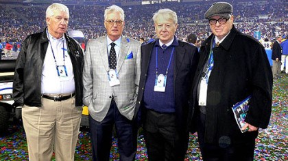Rooney brothers Pat, John, Tim and Art Jr. at Super Bowl XLIII in Tampa, Fla.