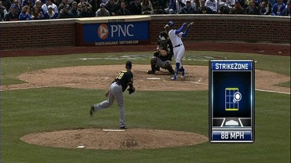 Root Sports New on Pirates telecasts in 2011 are pitch charts that provide location, speed and even break on the ball.
