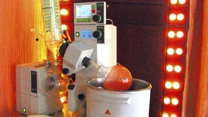 Rotary evaporator In 20 years, your kitchen might have a rotary evaporator, which rapidly concentrates liquids.