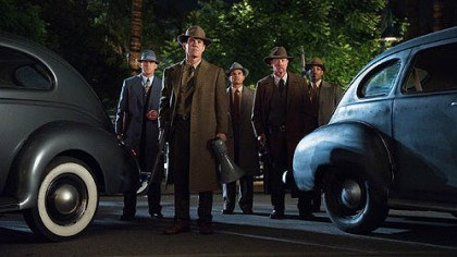 "Ryan Gosling, Josh Brolin, Michael Pena, Robert Patrick and Anthony Mackie From left, Ryan Gosling, Josh Brolin, Michael Pena, Robert Patrick and Anthony Mackie in ""Gangster Squad."""