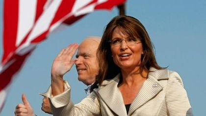 Sarah Palin The real thing: Sarah Palin and her running mate
