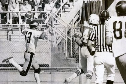 second-quarter touchdown Central Catholic's Dan Marino scores a second-quarter touchdown against North Hills during a 12-0 win Oct. 22, 1978. Known for the strength and accuracy of his right arm, Marino also was a prolific runner in high school.