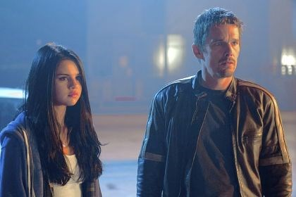 "Selena Gomez and Ethan Hawke Selena Gomez and Ethan Hawke bicker then bond in ""Getaway."""