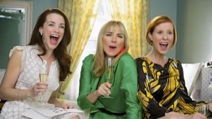 """Sex and the City"" Kristin Davis, left, stars as Charlotte York-Goldenblatt, Kim Cattrall, center, as Samantha Jones and Cynthia Nixon as Miranda Hobbes in ""Sex and the City."""