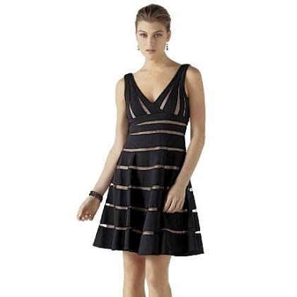 Shadow strip party dress White House Black Line Market's shadow stripe party dress $280.