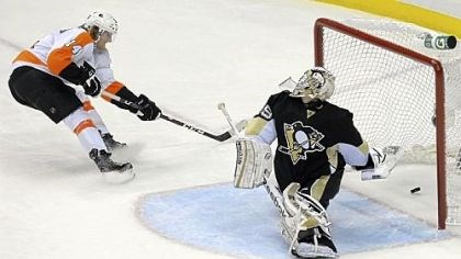 Shaky defense Shaky defense has put pressure on goalie Marc-Andre Fleury through two games.