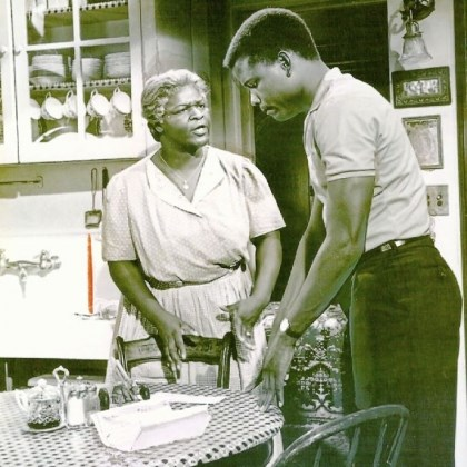 "Sidney Poitier and Ruby Dee Sidney Poitier and Ruby Dee in ""A Raisin in the Sun."""