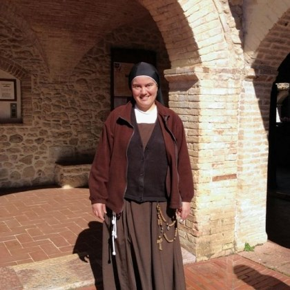 Sister Rosanna Sabatini Sister Rosanna Sabatini at the Church of San Damiano in Assisi.
