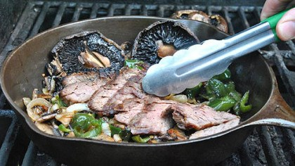 Skirt Steak with Green Chiles Skirt Steak with Green Chiles and Mushrooms (see recipe below).