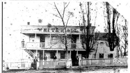 Slater The former White Hall Tavern in Brentwood in the 1800s, home of the John F. Slater Funeral Home for 75 years.