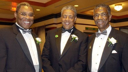 Social events Dwight White, left, Tom Burley, and Thomas Motley, right at a FROGS formal event in 2004.