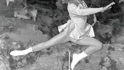 Sonja Henie Dancing on Ice by Sonja Henie - A photo from 1948.