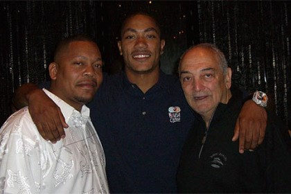 Sonny Vaccaro and Derrick Rose Sonny Vaccaro with Chicago Bulls star Derrick Rose and his father, Reggie Rose, in an undated photo.