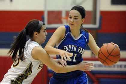 South Park-2 South Park's Halie Torris handles the ball against Blackhawk Tuesday night in the PIAA Class AAA semifinals.