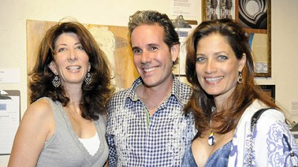 Sprout Fund's Hothouse benefit Caryn Rubinoff with Rob Brandegee adn Ava DeMarco.