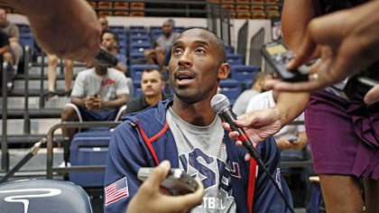 Star power For as good as any other player on the U.S. baskeball team might be, none draws the attention of Kobe Bryant once the Americans leave home.