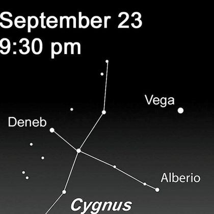 Stargazing for Sept. 23 This week, look overhead at the Milky Way and the high-flying double star Alberio in the Summer Triangle constellation of Cygnus.
