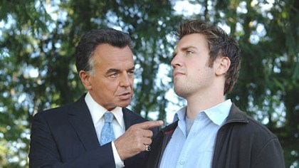 "Stars of The Reaper Ray Wise as the Devil and Bret Harrison as Sam star in ""Reaper"" on The CW."