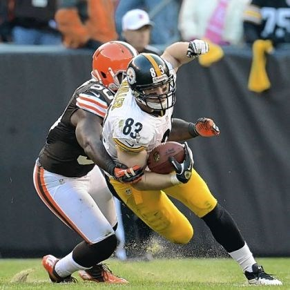 Steelers-Miller Steelers tight end Heath Miller leads the team in receptions with 61.