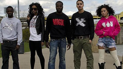 "Street wear Apparel by PhiriVon Clothing includes: Kris ""KH"" Hollis (model), Ashley Gee-Floyd (model), Jumbe Phiri (CEO, president of PhiriVon), Drew Stein (model) and Makayla Amirah Wray (head fashion designer at PhiriVon clothing)."