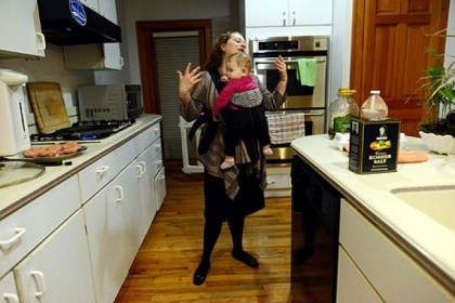 Stressed Out: Stefanie Small Stefanie Small, a mother of three living in Squirrel Hill, says the most stressful part of her day is when she returns home from work to cook for the children and help them with their homework.