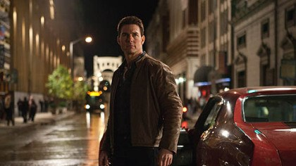 "studio photo of Tom Cruise Tom Cruise in ""Jack Reacher,"" filmed in Pittsburgh."