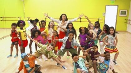 "Stylebook: Kids clothes Children model clothes from the GapKids Cabana collection along with actress, choreographer, director and producer Debbie Allen of the Debbie Allen Dance Academy, who created a dance called the ""Cabana Cha Cha"" in honor of the new line."