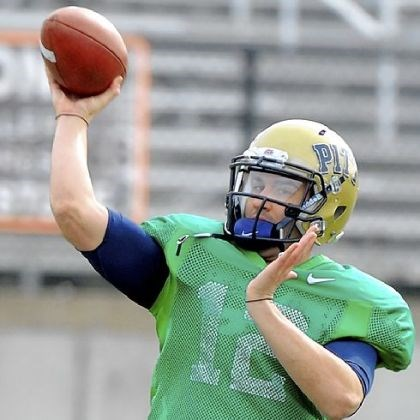 sunseri1 Pitt quarterback Tino Sunseri throws a pass during practice Thursday at Hoover High School in Hoover, Ala. Pitt plays Mississippi Saturday in the BBVA Compass Bowl in Birmingham.