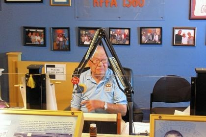 "'Sunshine' Sonny Payne broadcasts 'King Biscuit Time' ""Sunshine"" Sonny Payne broadcasts ""King Biscuit Time"" from Delta Cultural Center in Helena. He has been host of the radio show since 1952."