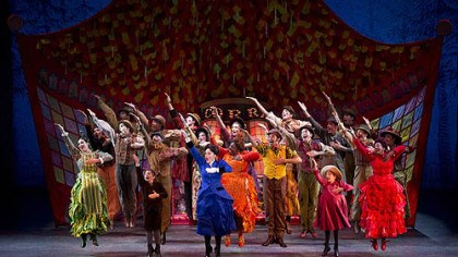 "Supercalifragilisticexpialidocious The ensemble in the touring production of ""Mary Poppins"" gets animated to perform ""Supercalifragilisticexpialidocious."""