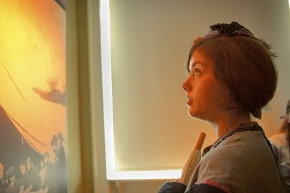 Tarynn Kimmick Tarynn Kimmick, 16, of Los Angeles, visits the Gettysburg Seminary Ridge Museum, which had its grand opening Monday.