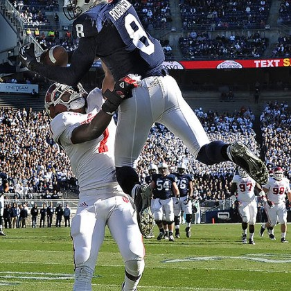 TD score Penn State's Allen Robinson hauls in touchdown pass against Indiana in the first quarter at Beaver Stadium in State College this afternoon.