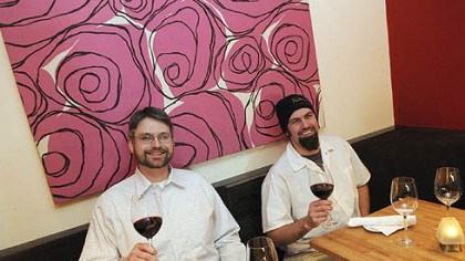 Tebbets and Garland Paul Tebbets, left, and Chet Garland are the co-owners of the recently opened Toast Kitchen and wine Bar in Shadyside.