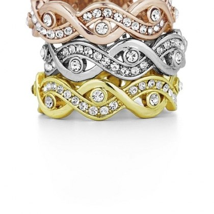 Telio Telio, a three-piece ring set by Doris Panos ($75).