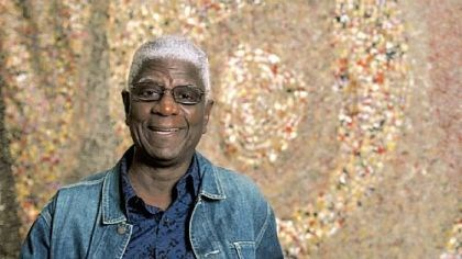 The artist El Anatsui. The artist El Anatsui.
