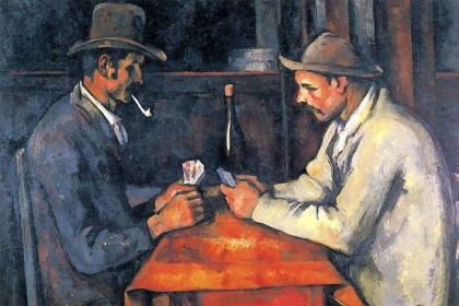 """The Card Players"" In February 2012, Vanity Fair reported that the royal family of Qatar had, during 2011, purchased Paul Cezanne's ""The Card Players"" for a price estimated at between $250 million and $320 million from the private collection of Greek shipping magnate George Embiricos."