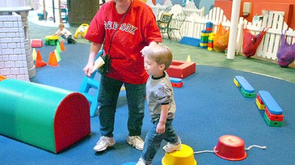 The Center For Creative Play The Center For Creative Play has been visited by thousands of children over the year. Here, Kellie Pruett, of Penn Hills, leads her son Max, then 2, along an obstacle course in 2005.